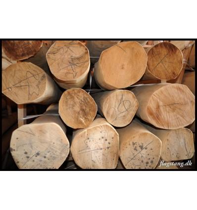 Robinie træ afbarket og pudset stolpe Ø20-22 cm