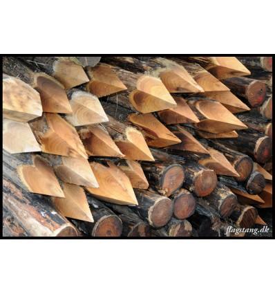 Hel hegnspæl i Robinie træ Ø12-14 cm.
