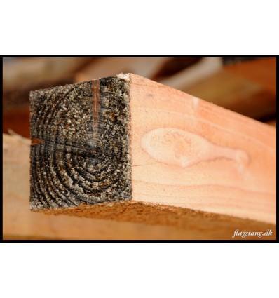 Tømmer i lærketræ 75 x 75 mm