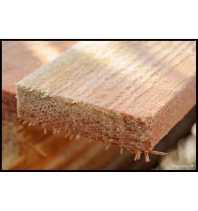 Brædder i lærketræ 25 x 100 mm