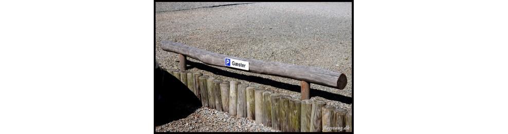 Fodbom / balancebom Robinie træ Ø14-16 cm. 250 cm
